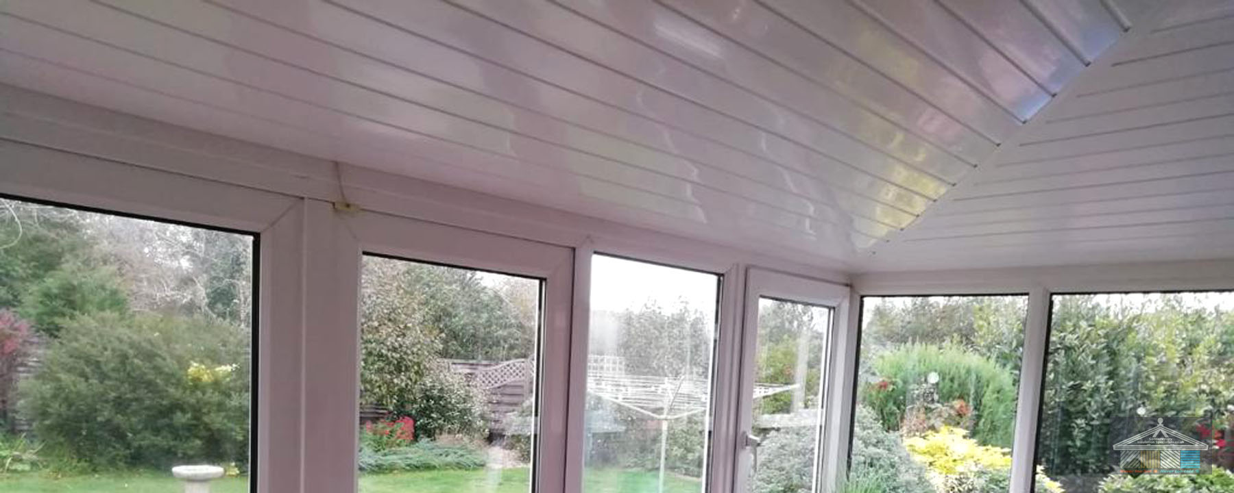 New conservatory roof interior