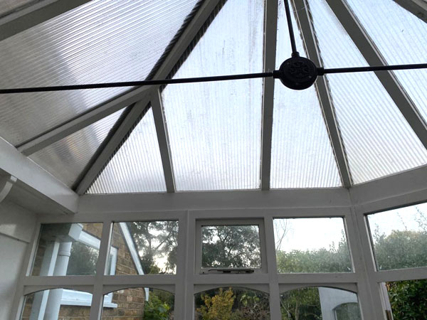 Dingy conservatory before transformation