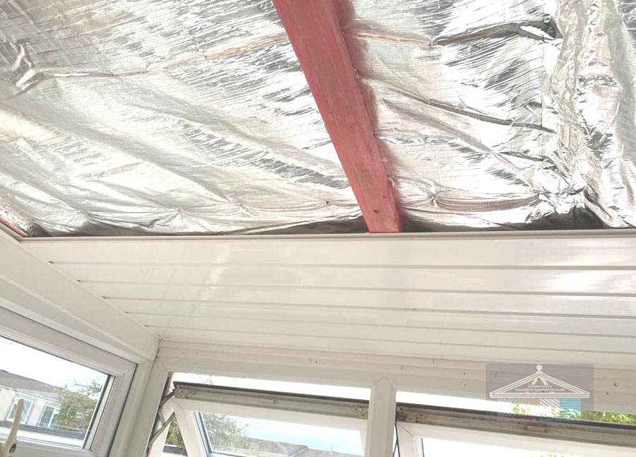 New insulation job in conservatory