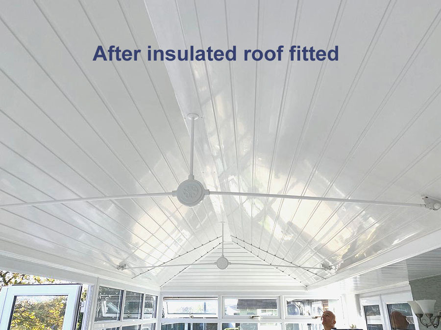 After conservatory insulation fitted